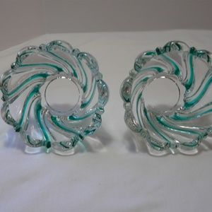 Mikasa Peppermint Green Candle Holders